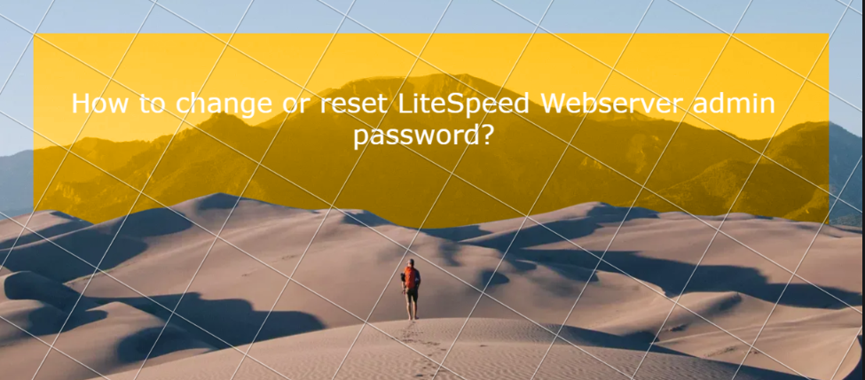 You are currently viewing How to change or reset LiteSpeed Webserver admin password?
